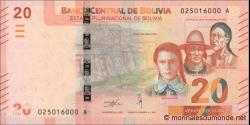 Bolivie - pnew - 20 Bolivianos - 2018