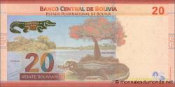 Bolivie - p249a - 20 Bolivianos - 2018