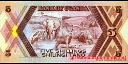 Ouganda - p27 - 5 Shillings - 1987 - Bank of Uganda