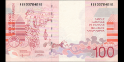 Belgique - p147a - 100 Francs / Frank / Franken - ND (1995 - 2001) - Banque Nationale de Belgique / Nationale Bank van Belgie