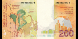 Belgique - p148 - 200 Francs / Frank / Franken - ND (1995) - Banque Nationale de Belgique / Nationale Bank van Belgie