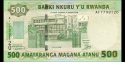 Rwanda - p34 - 500 Francs - 01.02.2008 - Banque Nationale du Rwanda / Banki Nkuru y'u Rwanda / National Bank of Rwanda