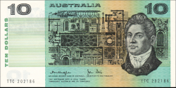 Australie - p45c1 - 10 Dollars - ND (1977) - Reserve Bank of Australia