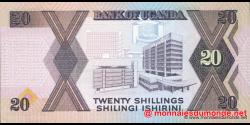 Ouganda - p29b - 20 Shillings - 1988 - Bank of Uganda