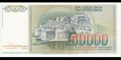 Yougoslavie - p096 - 50.000 Dinara / Dinarjev / Dinari - 01.05.1988 - Narodna Banka Jugoslavije / Narodna Banka na Jugoslavija