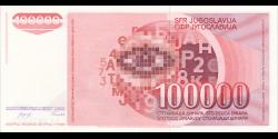 Yougoslavie - p097 - 100.000 Dinara / Dinarjev / Dinari - 01.05.1989 - Narodna Banka Jugoslavije / Narodna Banka na Jugoslavij