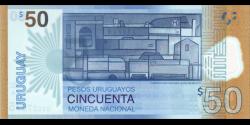 Uruguay - p100 - 50 Pesos Uruguayos - 2017 - Banco Central del Uruguay