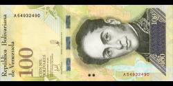 Venezuela - p100b - 100 000 Bolívares - 13.12.2017 - Banco Central de Venezuela