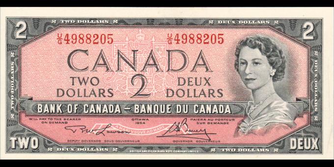 Canada - p076d - 2 Dollars - 1984 - Bank of Canada / Banque du Canada