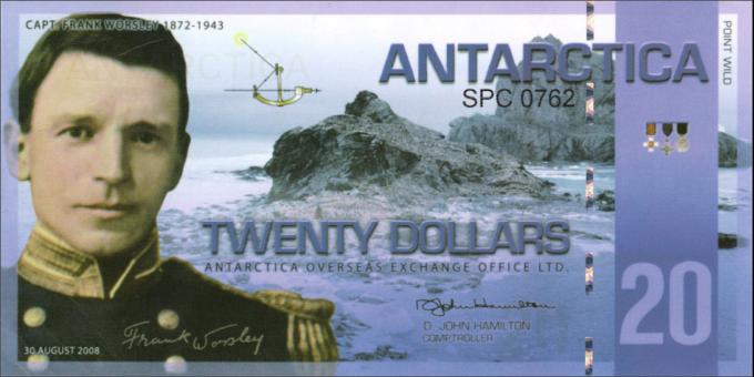 Antarctique - pNL10 - 20Dollars - 30.08.2008 - Antarctica Overseas Exchange Office LTD