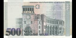 Arménie - p44 - 500 Dram - 1999 - Central Bank of the Republic of Armenia