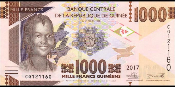 Guinée - p48b - 1.000 francs - 2017 - Banque Centrale de la République de Guinée