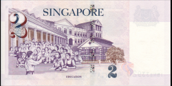 Singapour - p45A - 2 Dollars - ND (2005) - Monetary Authority of Singapore