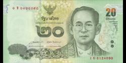 Thaïlande - p118b - 20Baht - ND (2014) - Bank of Thailand