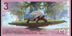 Iles Aldabra, 3 dollars, 2017