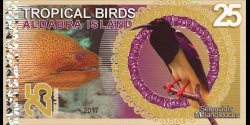 Iles Aldabra, 25 dollars, 2017