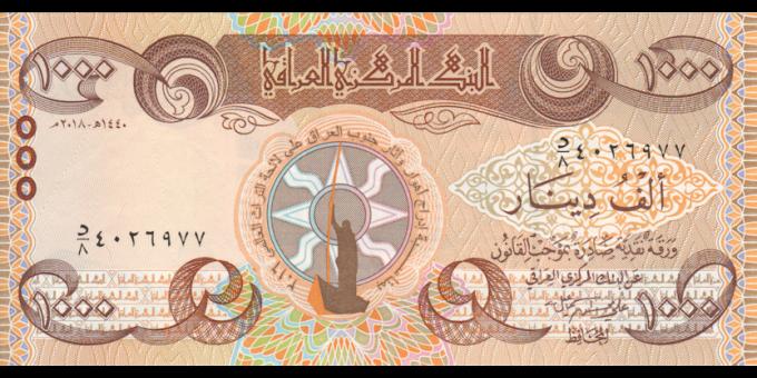 Irak - p104 - 1.000Dinars - 2018 - Central Bank of Iraq