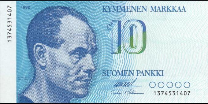 Finlande - p113a34 - 10 Markkaa - 1986 - Suomen Pankki