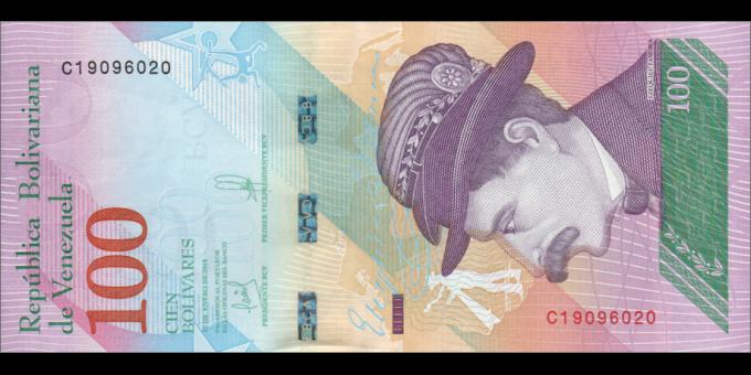 Venezuela - p105a - 100 Bolívares soberano - 15.01.2018 - Banco Central de Venezuela