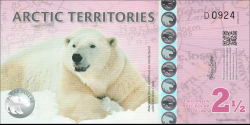 Arctique - pNL4 - 2,5 Polar Dollars - 2013 - Arctic Territories