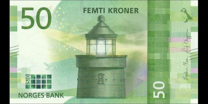 Norvège - p53a - 50 Kroner - 2017 - Norges Bank