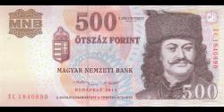 Hongrie - p96e - 500 Forint - 2013 - Magyar Nemzeti Bank