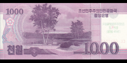 Corée du Nord - pCSnew - 1.000 Won - 2008 (OP 2012) - Central Bank of the Democratic Peoples Republic of Korea