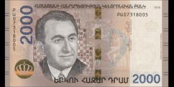 Arménie - pNew - 2.000 Dram - 2018 - Central Bank of the Republic of Armenia