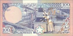 Somalie - p35d1 - 100 Shilin Soomaali - 1989 - Bankiga Dhexe ee Soomaaliya