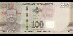 Swaziland - p42 - 100 Emalangeni - 06.09.2017