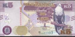 Zambie - p57b - 5 Kwacha - 2018 - Bank of Zambia