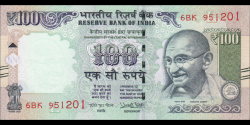 Inde - p105al - 100 Roupies - 2017 - Reserve Bank of India