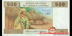 Rep - Centrafricaine - p306M - 500 Francs - 2002 - Banque des États de l'Afrique Centrale