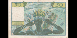 afrique occidentale française - p45 - 50 francs - ND (1956) - Institut d'Émission de l'Afrique Occidentale Française et du Togo