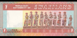 Swaziland - p01 - 1 lilangeni- ND (1974) - Monetary Authority of Swaziland