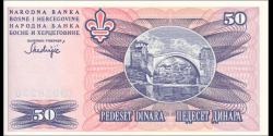 Bosnie Herzégovine - p047 - 50 Dinara - 1943 - Narodna Banka Bosne i Hercegovine