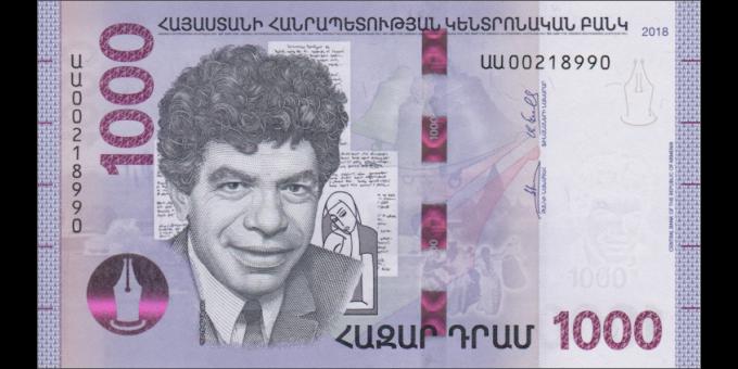 Arménie - p61 - 1.000 Dram - 2018 - Central Bank of the Republic of Armenia