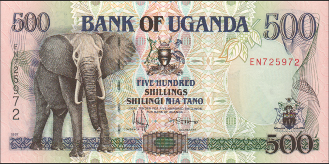 Ouganda - p35 - 500 Shillings - 1997 - Bank of Uganda