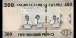 Rwanda - new- 500 Francs - 2019