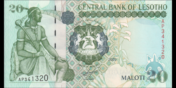 Lesotho - p16g - 20 Maloti - 2009 - Central Bank of Lesotho