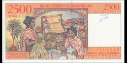 Madagascar - p81 - 2.500 francs - 1998 - Banky Foiben'i Madagasikara
