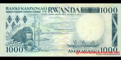 Rwanda - p21a - 1 000 Francs - 01.01.1988 - Banque Nationale du Rwanda / Banki Nasiyonali y'u Rwanda