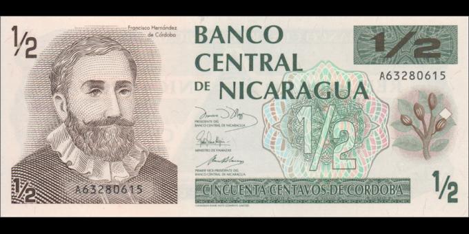 Nicaragua - p171 - ½ Córdoba - ND (1991) - Banco Central de Nicaragua