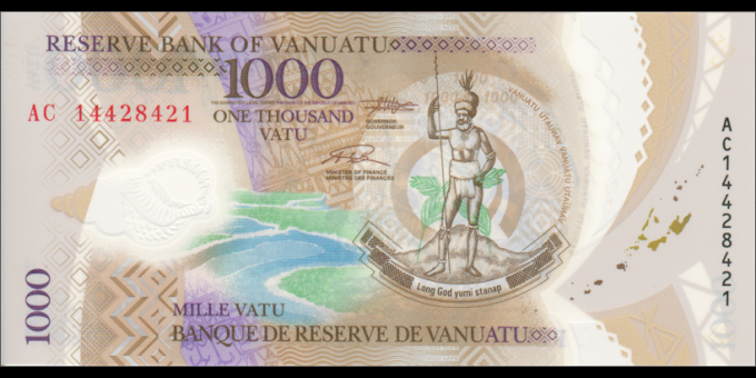 Vanuatu - p13 - 1000 Vatu -2014 - Reserve Bank of Vanuatu / Banque de Reserve de Vanuatu / Reserve Bank blong Vanuatu