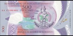 Vanuatu - p18 - 500 Vatu -2017 - Reserve Bank of Vanuatu / Banque de Reserve de Vanuatu / Reserve Bank blong Vanuatu