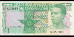 Ghana - p17b - 1 cedi - 1982 - Bank of Ghana