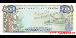 Rwanda - p22a - 5 000 Francs - 01.01.1988 - Banque Nationale du Rwanda / Banki Nasiyonali y'u Rwanda