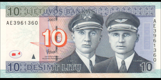 Lituanie - p68 - 10Litu - 2007 - Lietuvos Bankas