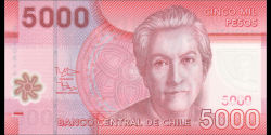 Chili - p163e - 5000 Pesos - 2014 - Banco Central de Chile
