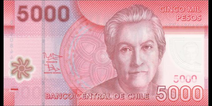 Chili - p163e - 5000 Pesos - 2014 - Banco Central de Chile